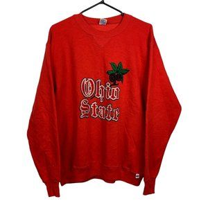 Ohio State Russell Athletic Vintage Sweatshirt Men's Size L Red Pullover
